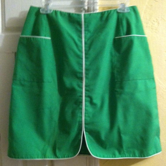 95521f61 LEON LEVIN Skirts | Vtg Wms Golf Skortmedkelly Green | Poshmark